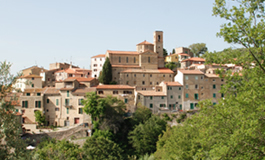 Image of the village of Santa Luce in the province of Pisa Tuscany